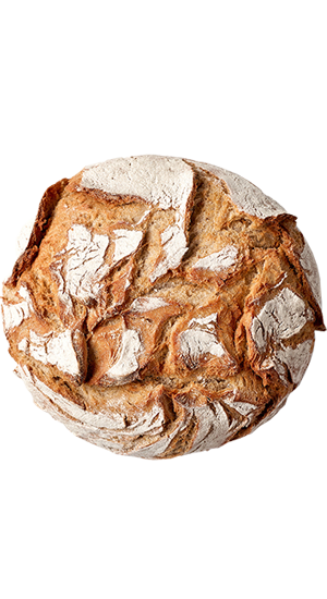 Grain flake bread
